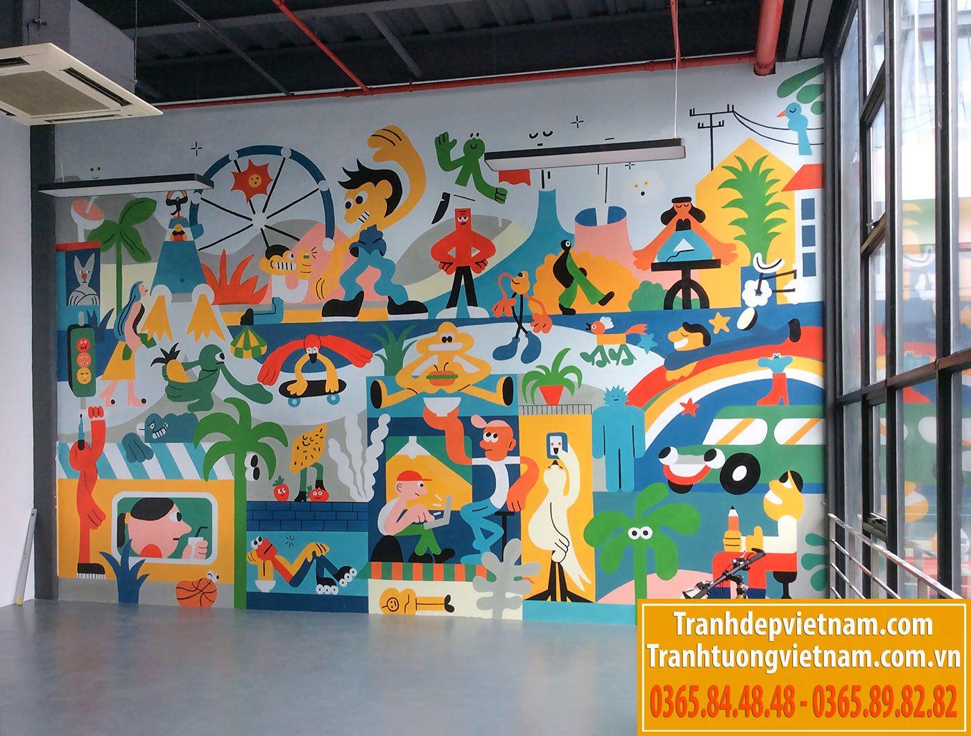 Vẽ tranh tường tại hải phòng