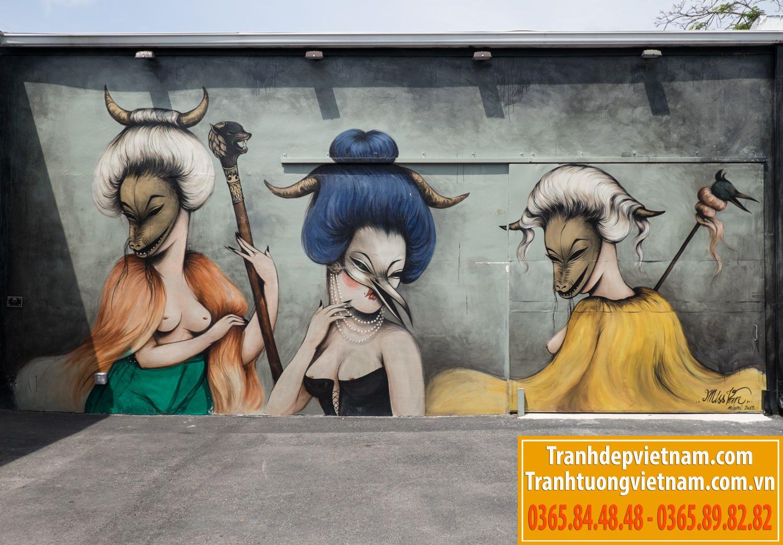 vẽ tranh tường tại lào cai